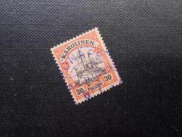 D.R.Mi 12  30Pf -  Deutsche Kolonien (Karolinen) 1900  Mi 16,00 € + Stempel Violett 25,00 € - Kolonie: Karolinen