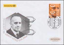3420 Ernst Otto Fischer, Schmuck-FDC Deutschland Exklusiv - [7] República Federal