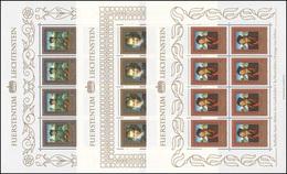 881-883 Gemälde Aus Fürstlichen Sammlungen 1985, 3 Werte, Kleinbogen-Satz **  - Liechtenstein