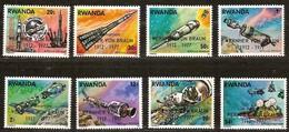 Rwanda Ruanda 1977 Yvertn°  838-845  *** MNH Cote 8,00 Euro  Wernher Von Braun - 1970-79: Neufs
