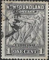 NEWFOUNDLAND 1932 Codfish - 1c - Grey AVU - 1908-1947
