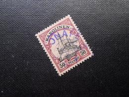 D.R.Mi 14  50Pf -  Deutsche Kolonien (Karolinen) 1900  Mi 25,00 € + Stempel Violett 25,00 € - Kolonie: Karolinen