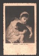 Greuze - L'enfant Au Chien - Linen - 1920 - Schilderijen