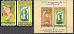 "MOLDAVIA, 2006 The 50th Anniversary Of The First ""EUROPA"" S/S + 2v MNH - Moldavia"