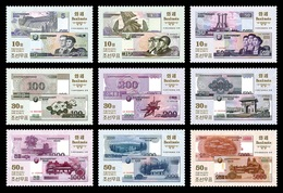 North Korea 2015 Mih. 6236/44 Banknotes MNH ** - Corée Du Nord