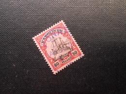 D.R.Mi 15  80Pf -  Deutsche Kolonien (Karolinen) 1900  Mi 28,00 € + Stempel Violett - 25,00 € = Total 53,00 € - Colony: Caroline Islands