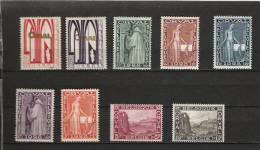 [2853] Zegels 258 - 266 * Scharnier - Unused Stamps