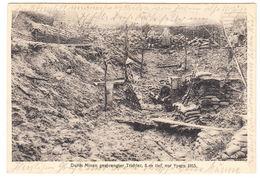 AK Durch Minen Gesprengter Trichter- Vor Ypern 1915, Gel. 1917 - Guerre 1914-18