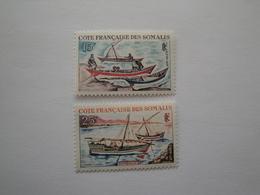 1964 Côtes Des Somalis Yv 320/1 **  MNH Bateaux Ships  Cote 5.00 €  Michel 358/9   Scott 302/3  SG  476/7 - Côte Française Des Somalis (1894-1967)