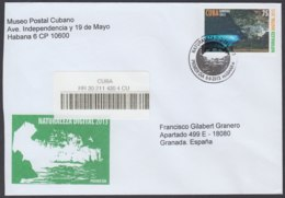 2013-FDC-68 CUBA FDC 2013. REGISTERED COVER TO SPAIN. NATURALEZA DIGITAL, CAVERN, CENOTE EL BRINCO, CUEVA, ESCAMBRAY. - FDC