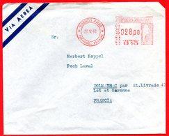 1966 ARGENTINA MAPPA SU METER STAMP EMA FREISTEMPEL AFFRANCATURA MECCANICA PER FRANCIA - Automatenmarken (Frama)