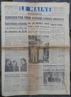 24 Heures Du Mans 1960.Victoire De DB Panhard.2 Français En 2CV Citroën.Saint-Pavace. - Newspapers