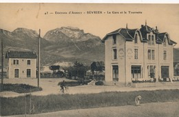 I70 - 74 - SÉVRIER - Haute-Savoie - La Gare Et La Tournette - Hôtel Du Lac - Autres Communes