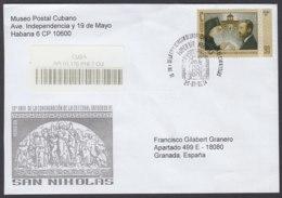 2014-FDC-73 CUBA FDC 2014. REGISTERED COVER TO SPAIN. HF 10 ANIV IGLESIA ORTODOXA, RELIGION, FIDEL CASTRO. - FDC