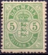 DENEMARKEN 1895-02 5öre Wapentype Tanding 12¾ PF-MNH - Nuovi