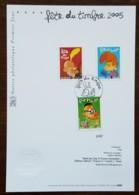 FDC Sur Document - YT N°3751 à 3753 - FETE DU TIMBRE / TITEUF - 2005 - FDC