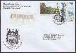 2014-FDC-101 CUBA FDC 2014. REGISTERED COVER TO SPAIN. 500 ANIV FUNDACION SANCTI SPIRITUS, DIEGO VELAZQUEZ. - FDC