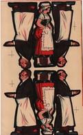 Tiré à Part/ Chromos De Boite De Jeu ?/Vernissé/ Serveurs Et Serveuse De Restaurant Alsacien/Vers 1930   JE220 - Autres
