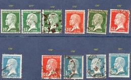 N°  170° à 181° Sauf 177  Pasteur - 1922-26 Pasteur