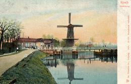 Rijswijk, Hoornbrug, Korenmolen, Windmill, Shadow - Watermolens