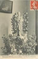CP PENSIONNAT STE-GENEVIEVE DE BLOIS CHAPELLE STATUE 31 MAI 1910 - Blois