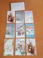Lots 9 Cartes De Nouvel An Neuf Avec Enveloppe 13cm/8cm - New Year