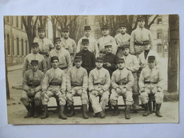 Carte Photo  Groupe De Soldats -  Photographe Belville à ROUEN - TBE - Weltkrieg 1914-18