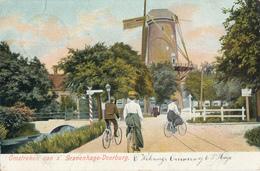 Rijswijk, Hoornbrug, Korenmolen, Windmill, Cyclist, Voorburg - Watermolens