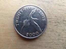 Bermudes  25  Cents  2000  Km 110 - Bermuda