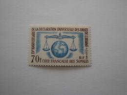 1963 Côtes Des Somalis Yv 318 **  Human Rights Cote 10.00 €  Michel 356  Scott 300  SG 474 Droits De L'homme - Côte Française Des Somalis (1894-1967)