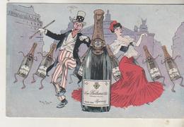 Illustration Henri MORIN - Publicité - Champagne Bulteaux - Epernay - Morin, Henri