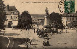 TROYES LE MONUMENT DES ENFANTS DE L AUBE ET LA GARE - Troyes