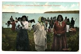 Lake Tyers, Aboriginals, Gippsland, (Australian Blacks), Near Bairnsdale, Gippsland, Carte Postale Ancienne 1908 - Aborigènes
