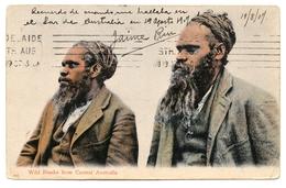 Wild Blacks From Central Australia, Carte Postale Ancienne 1907 - Aborigènes