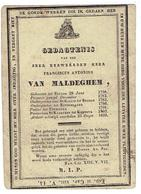 E.Heer F.A. VAN MALDEGHEM - Onderp. St Gillis Brugge - Rousselaere - Uytkerke - Pastoor St Maertens Kortrijk -1758 -1833 - Images Religieuses