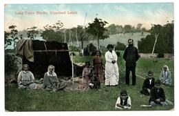 Lake Tyers Blacks, Gippsland Lakes, Australie, Carte Postale Ancienne 1908 - Aborigènes
