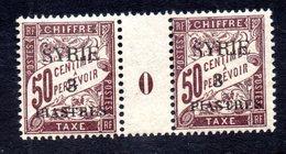 Syrie Taxe N°25 Paire Avec Milésime N** LUXE Cote 80 Euros !!!RARE - Syria (1919-1945)