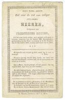 Anna Maria HEEREN - Echtg. Fredericus Sohier - Overleden St Truiden 31 December 1850 In Ouderdom Van 65 Jaren - Devotieprenten