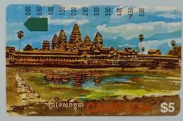 CAMBODIA - $5 - Anritsu - Angkor Ruins -  Used - Cambodia