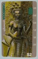 CAMBODIA - $2 - Anritsu - Goddess -  Used - Kambodscha