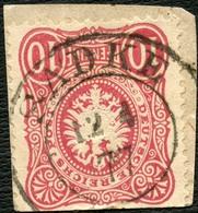 PREUSSEN 1877, NACHVERWEND.-STPL-K2 SADKE AUF DR. 33a, MARKE MÄNGEL, SELTEN! - Prusse