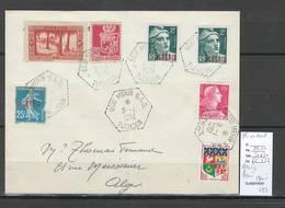 Algerie - Lettre  - Cachet Hexagonal BENI MENIR SAS -  Marcophilie - Algérie (1924-1962)