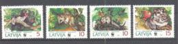Lettland / Latvija  Michel #  378 - 81 ** - Nager
