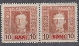 Austria Occupation Of Romania 1917/1918 Mi#4 Mint Never Hinged Pair - Unused Stamps