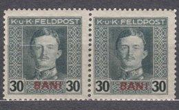 Austria Occupation Of Romania 1917/1918 Mi#9 Mint Never Hinged Pair - Unused Stamps