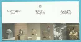 Massimo Dutti  /  Manhattan Light / Souffle Marais / Evening Whispers  (lot Grijs Los) - Cartes Parfumées