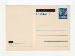 Entier Postal Carte Postale Postkarte Luxembourg. Timbre 35 C. Surchargé 6 Rpf. (1118x) - Stamped Stationery