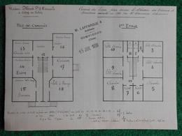 Plan De La Maison Menot Frères Et Deneuville Sise à Crépy En Valois Dans L'Oise En 1930 - Architecture