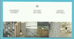 Massimo Dutti  /  Kashbah Sunset / Island Accord /  Sandy Papyrus  (lot Grijs Los) - Cartes Parfumées