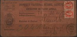 C3269-Switzerland-Domestic Parcel Card From Lancy To Oberuzmyl (?)-1895 - 1882-1906 Coat Of Arms, Standing Helvetia & UPU
